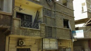 Rubble of Dr A's home and clinic in Syria