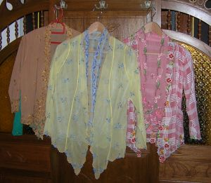 Orange, Yellow and Pink lace tops