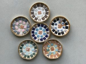 coasters inlaid with mosaic