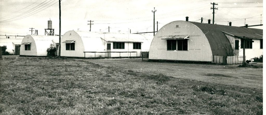 A row of Nissen huts